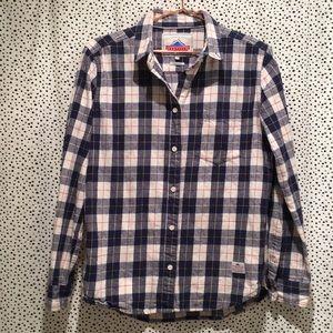 Penfield plaid flannel button shirt boyfriend fit
